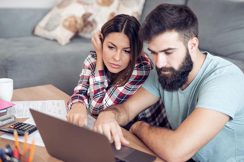 Couple On Computer